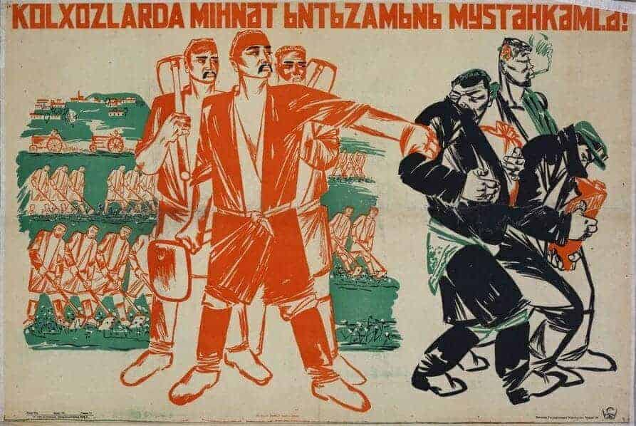 E2809CStrengthen working discipline in collective farmsE2809D E28093 Uzbek2C Tashkent2C 1933 28Mardjani29