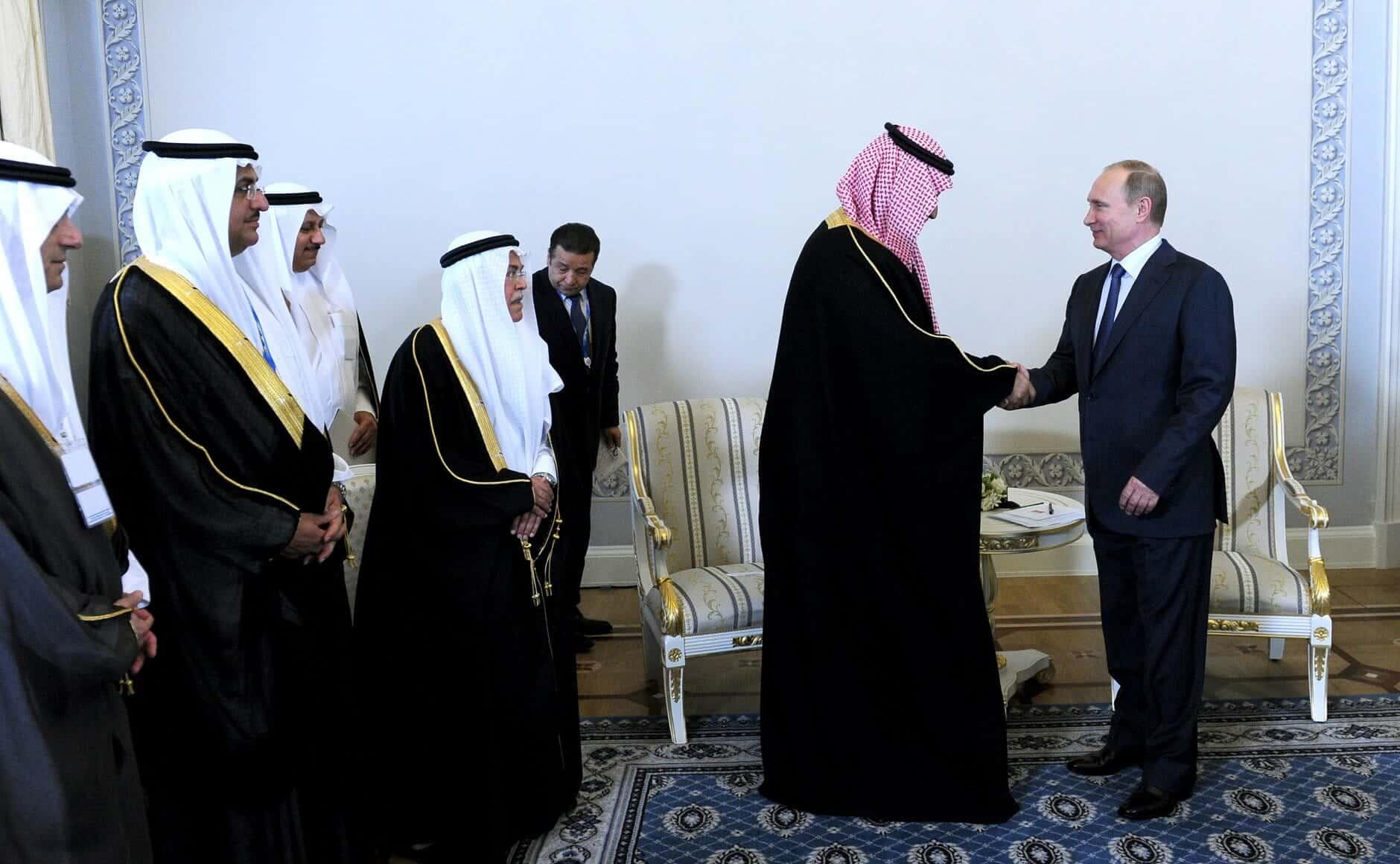 Vladimir Putin and Mohammad bin Salman Al Saud 1