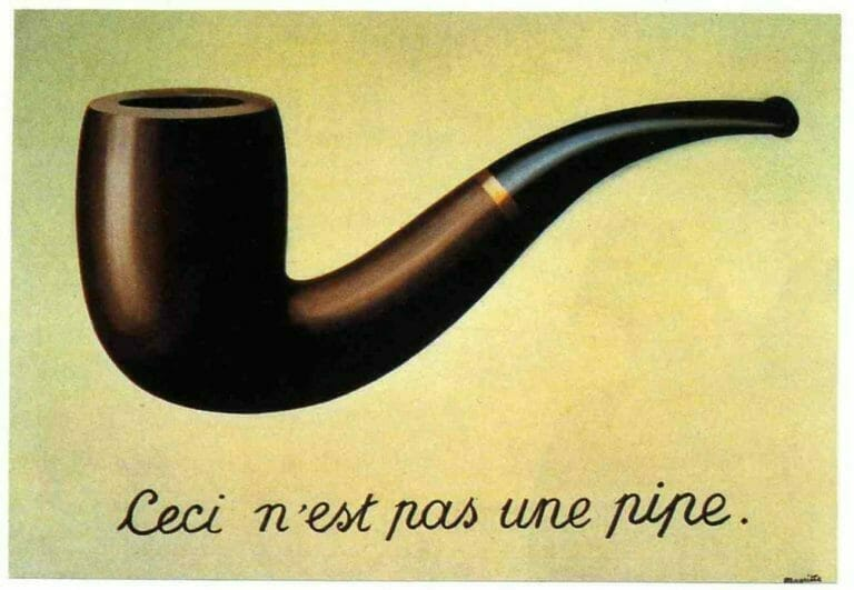Magritte Pas une pipe