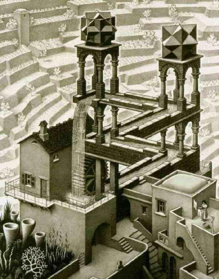 Escher Waterfall 1961 scaled