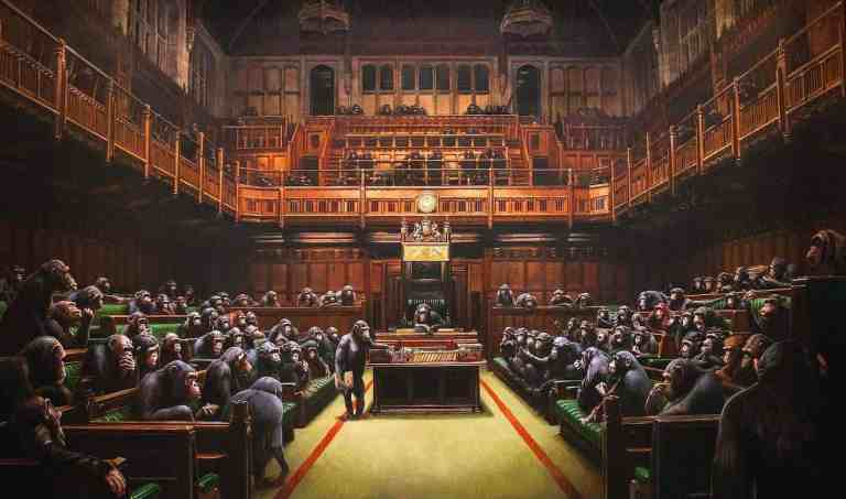 Devolved Parliament by Banksy