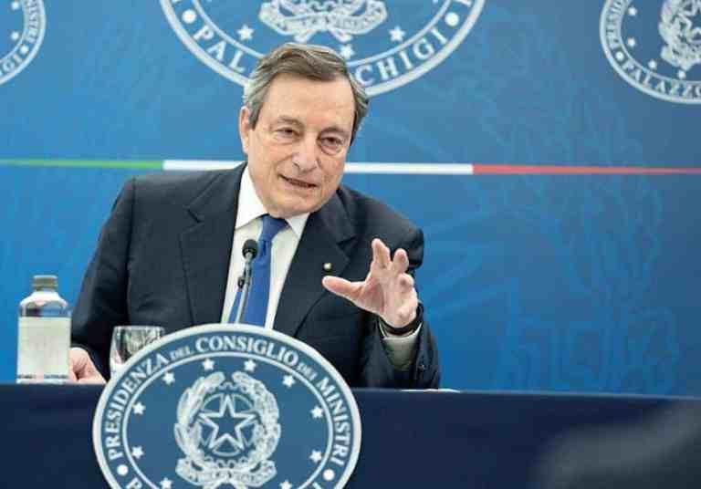 Draghi conferenza stampa 8 aprile