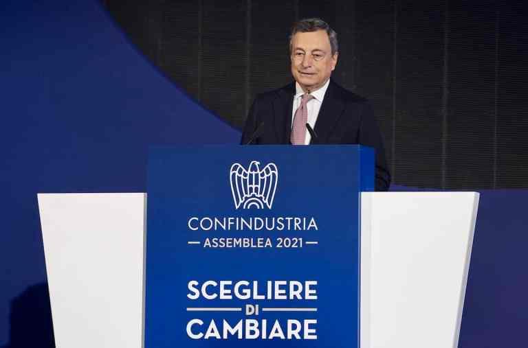 Draghi Confindustria Assemblea 2021
